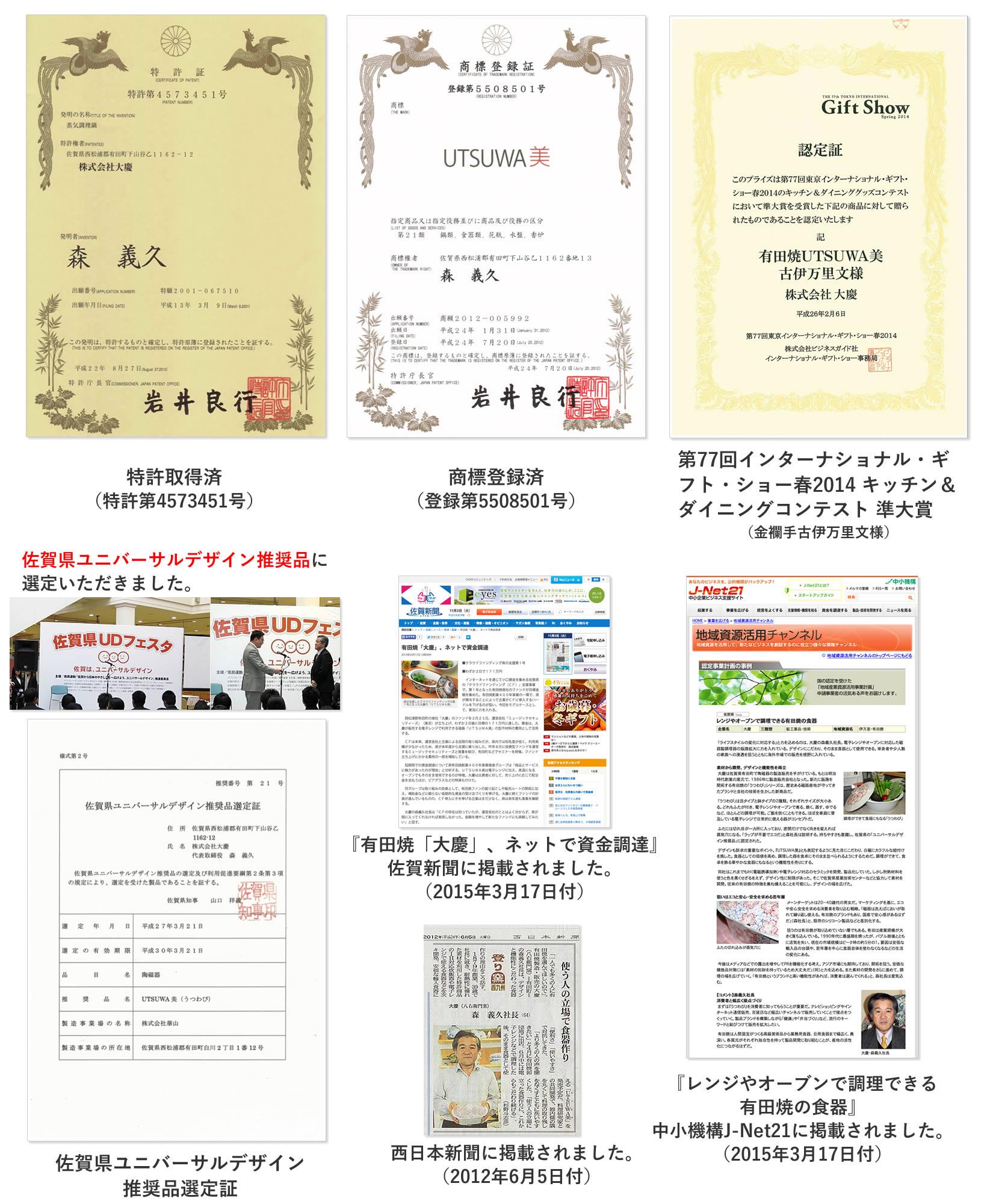 UTSUWA美 メディア掲載・特許・商標